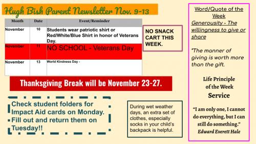11/9 Parent Newsletter pg 2