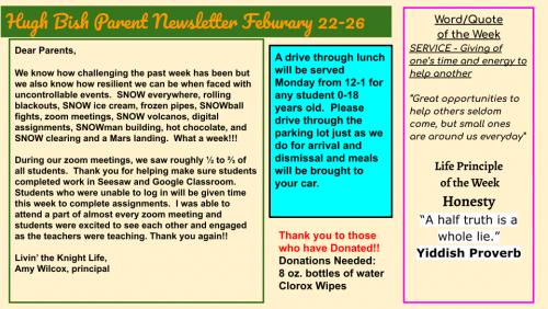 2.22.21 Parent Newsletter