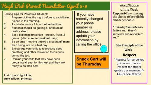 4/5 Parent Newsletter
