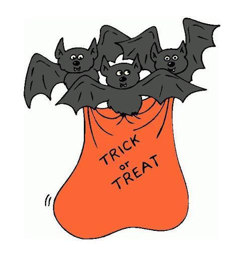 Halloween Bag with Bats