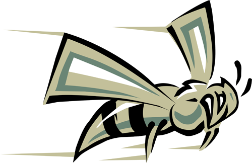 Clip art picture of a hornet