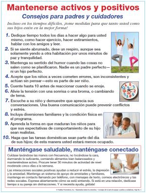 Consejos para mantenerse positivo y saludable para los padres y cuidadores