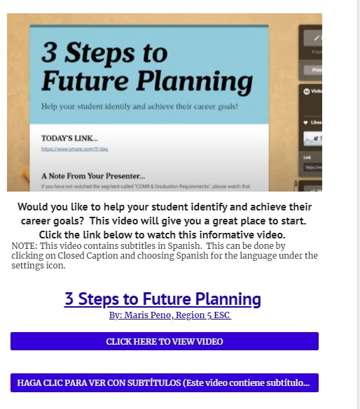 3 STEPS TO FUTURE PLANNING