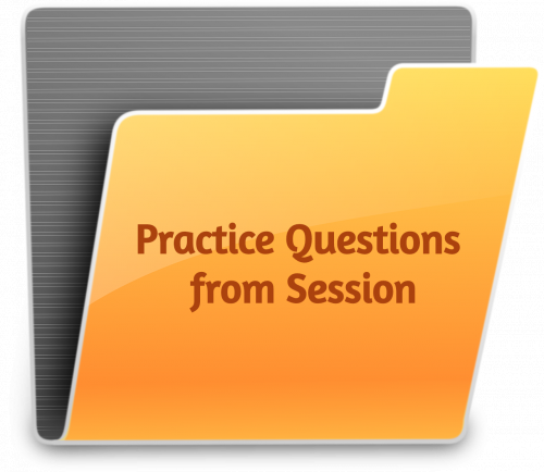 Practice Questions from Session