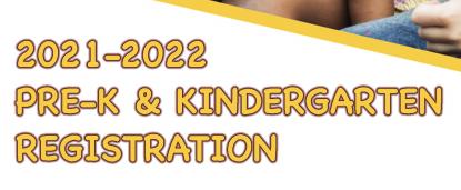 Pre-K & Kindergarten Registration for 2021-2022 is now open!