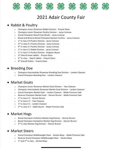 Fair 2021