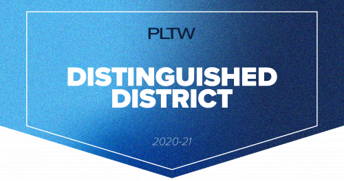 Project Lead The Way Distinguished District Banner