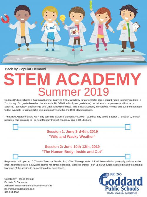 STEM Academy Flyer - All Information in body text of this page.