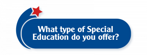 What type of Special Education do you offer?