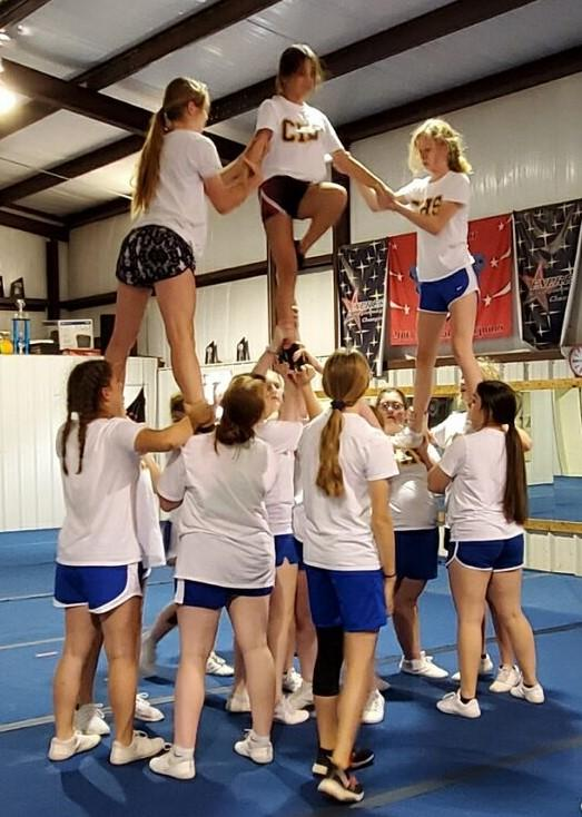 Central High HS and JH Cheerleaders  Attend Stunt Camp in Duncan
