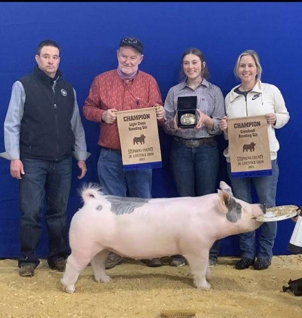 Central High 4-H and FFA Members Do Well at the Stephens County Fair