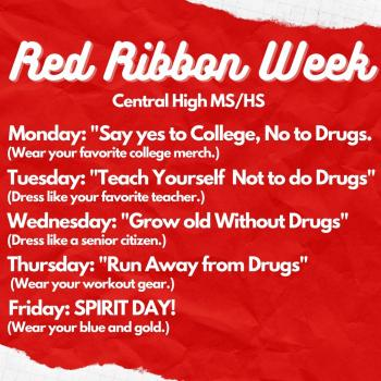 CHS Student Council Plans Red Ribbon Week Activities