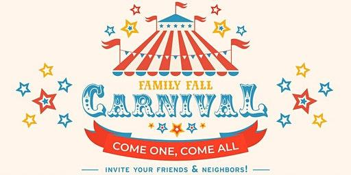 Fall Carnival is Coming September 28, 6-8:00 pm