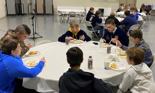 FFA Officer with Students