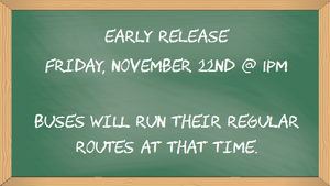 Early release Friday, November 22nd