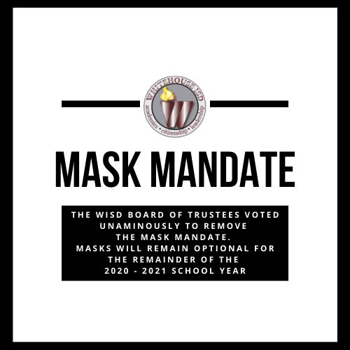 WISD Board of Trustees removes Mask Mandate