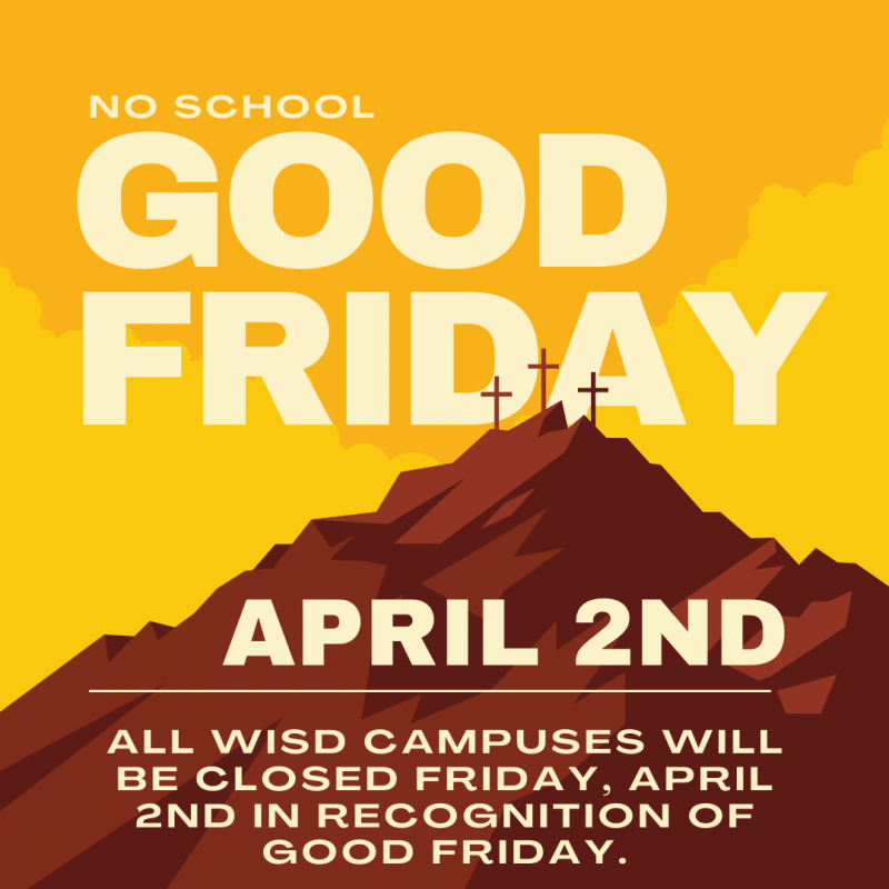 No school on Friday, April 2nd