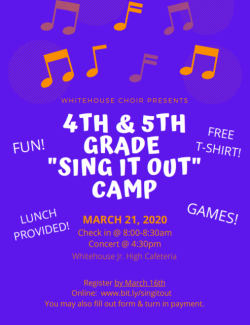Sing It Out Camp