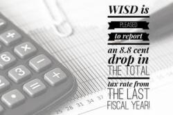 Tax rate drops for WISD