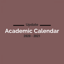 Changes to the 2020 - 2021 Academic Calendar