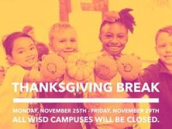 WISD closed for Thanksgiving Break November 25th- 29th