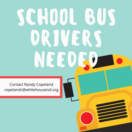 Whitehouse ISD is hiring Bus Drivers