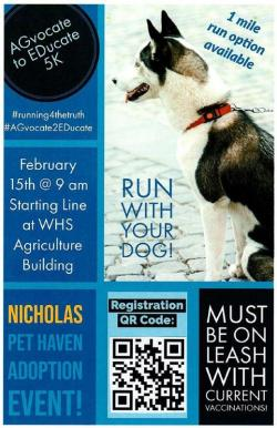 5K Dog Fun Run hosted by Whitehouse FFA