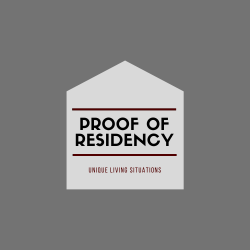 Proof of Residency for Unique Living Situations