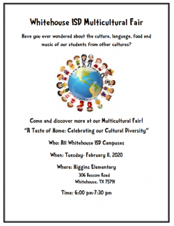 Whitehouse ISD hosting Multicultural Fair