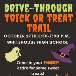 Drive through trick or treat trail