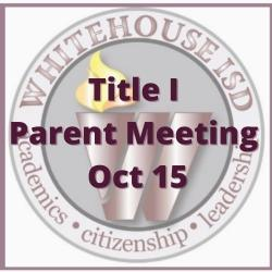 Title I Parent Meeting Oct 15