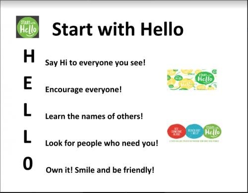 start w hello letters