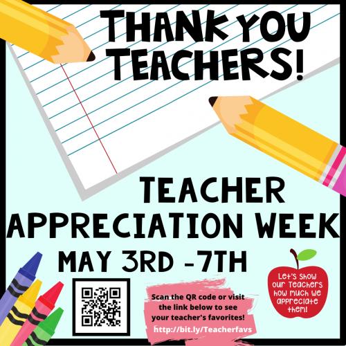 Teacher Appreciation is NEXT Week