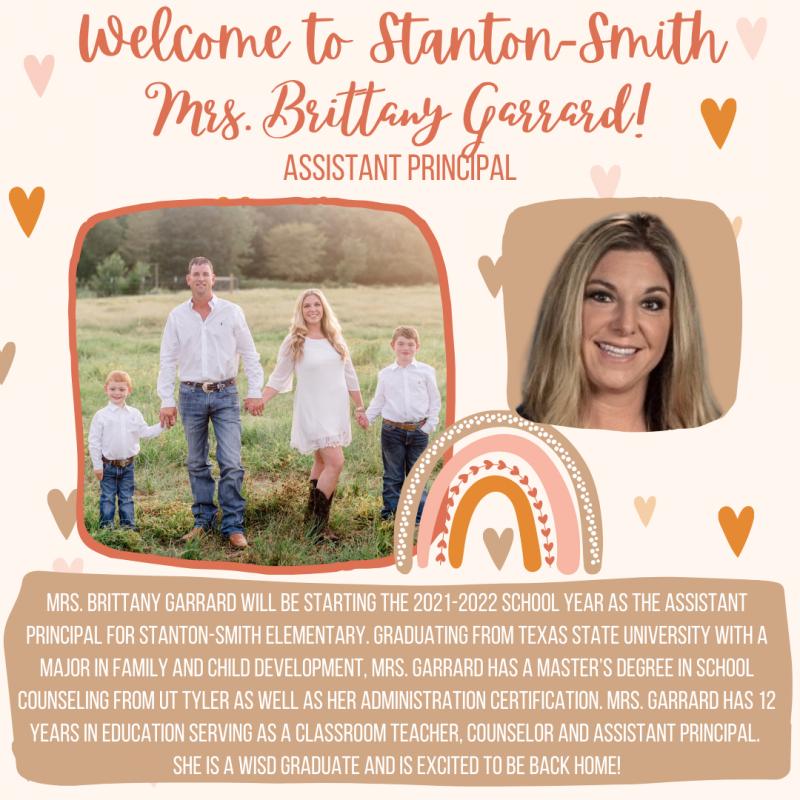 Welcome Mrs. Brittany Garrard