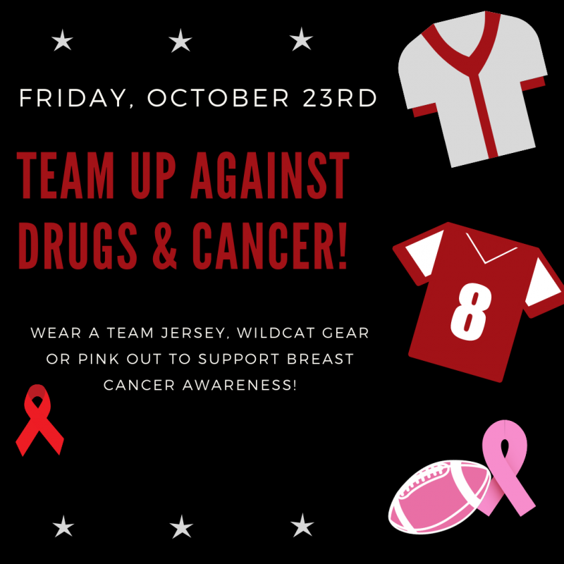Fri., Oct. 23rd - Wear a team jersey, Wildcat gear or Pink Out.