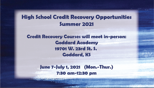 High School Credit Recovery