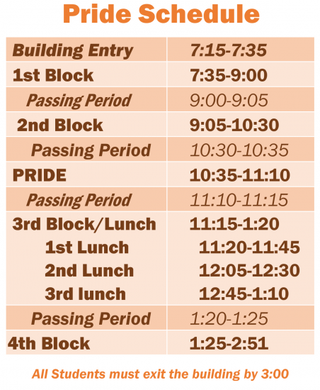 Pride Day Schedule