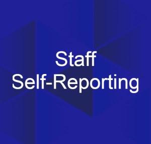staff self-reporting