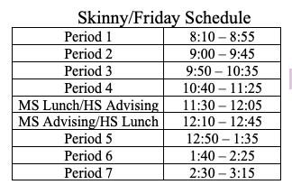 Skinny Schedule