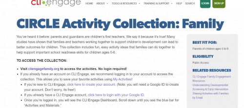 circle activity screenshot
