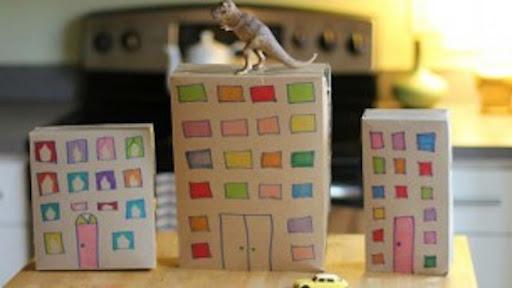 Cereal box cityscape