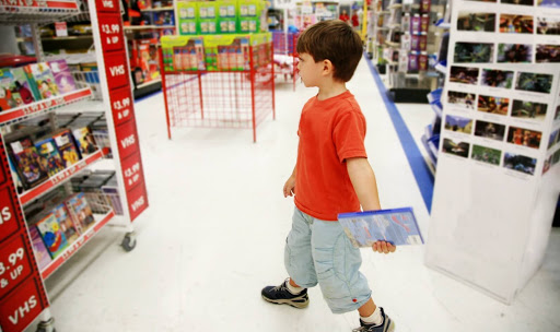 child in a store