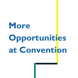Image says More opportunities at Convention