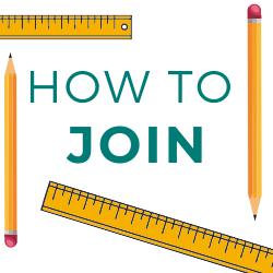 Square Graphic of two rulers and two pencils with the text How to join buyboard