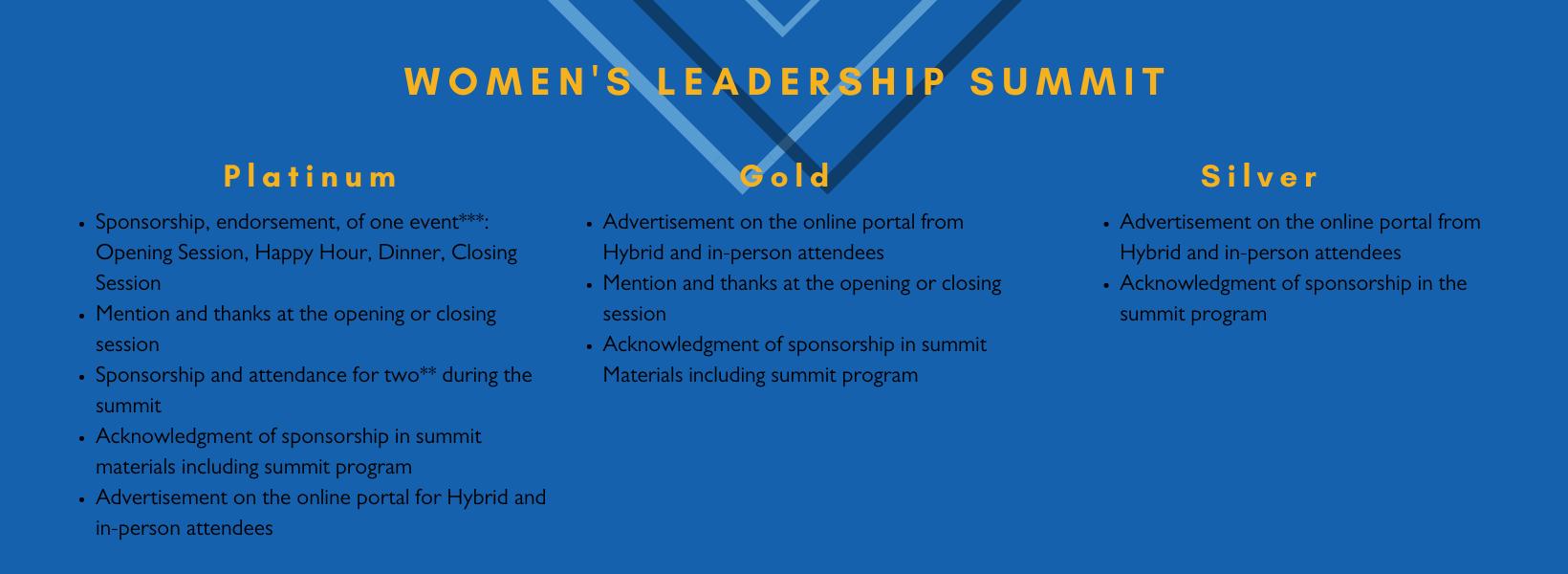 Womens leadership package