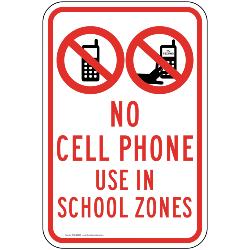 No Cell Phones in School Zone