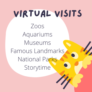 Virtual Visits - zoos, aquariums, museums, famous landmarks, national parks, storytime