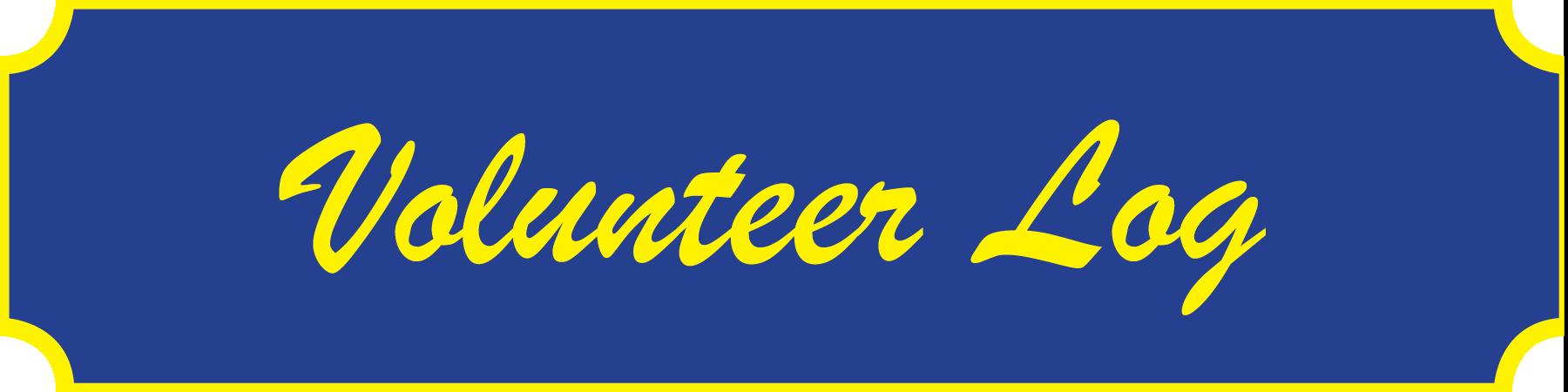 volunteer log