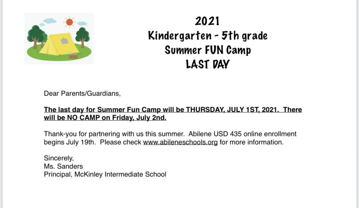 Last Day of Summer Fun Camp