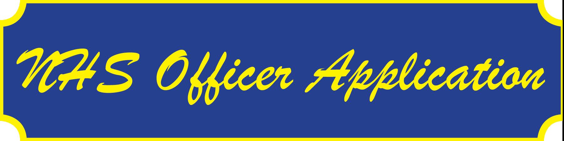 NHS officer application